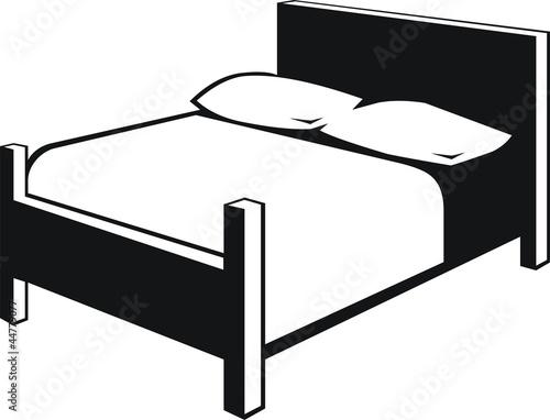 pictogramme lit photo libre de droits sur la banque d 39 images image 44779077. Black Bedroom Furniture Sets. Home Design Ideas
