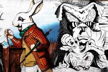 "Graffiti ""Alice in Wonderland"""