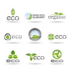 Ecology icon set. Eco-icons. Vol 7.