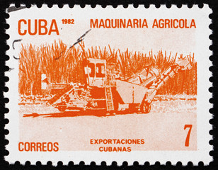 Postage stamp Cuba 1982 Agricultural Machinery, Cuban Export