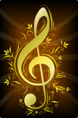 Treble clef for your design.