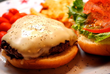 Cheese Buger with Black Pepper