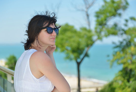 happy woman outdoor