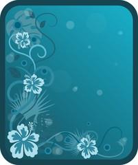 Blue swirly banner