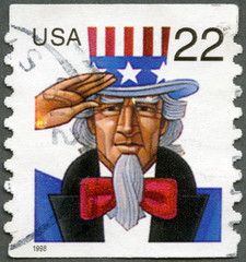 UNITED STATES - 1998: shows Uncle Sam