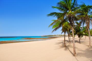 Arrecife Lanzarote Playa Reducto beach palm trees