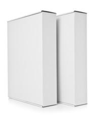 Two blank cardboard box