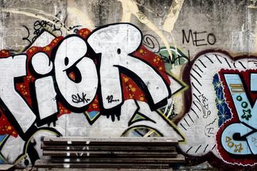 Grafitti auf einer Mauer