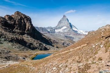 Matterhorn, Riffelhorn und Riffelsee