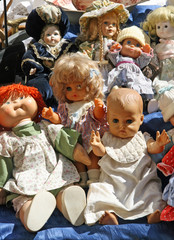 collection of antique dolls items on sale  market