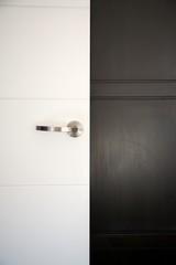 white and black doors