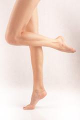 Beautiful legs of dancing woman