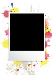 picture frame on splatter background