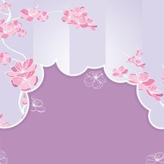 floral cutout frame