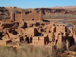 Fotobehang Marokko Kasbah marocco
