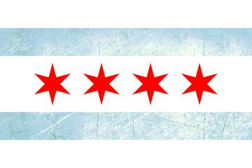 Fototapete - Grunge Chicago flag