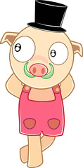 Pig vector cartoon