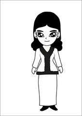 Women cartoon vector illustrator