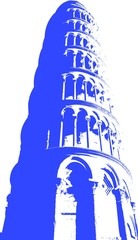 Vector Image of the Tower of Pisa.
