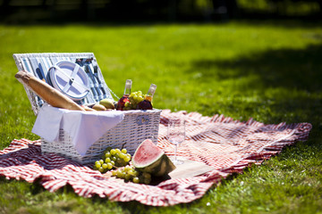 Aluminium Prints Picnic Perfect food in the garden. picnic