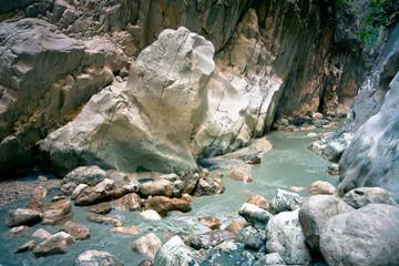 Mountain stream  of Saklikent Canyon / Turkey