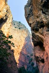 Canyon rock walls in Saklikent  / Turkey