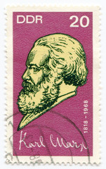 A stamp printed in Germany  of Karl Marx