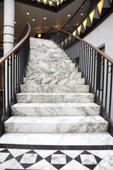 Foto auf Acrylglas Treppe White marble stair in luxury interior