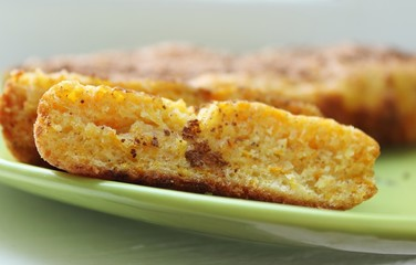 Cake with carrot and oranges