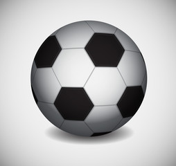 Icon of soccer ball. EPS10 vector