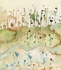 Poster Painterly Inspiration Artystyczne tło akwarelowe,