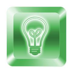 Glühbirne Taste grün