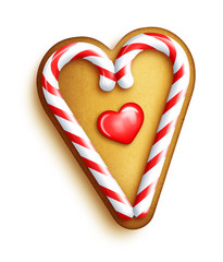 Whimsical Gingerbread Cookie Heart