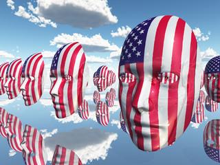 USA Flag Faces