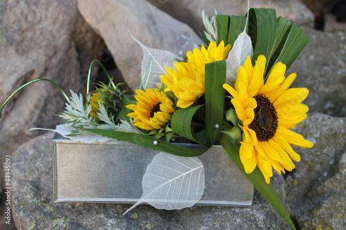 composition florale moderne zinc tournesol photo libre de droits sur la banque d 39 images. Black Bedroom Furniture Sets. Home Design Ideas
