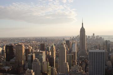 Manhattan Skyline, NY at dusk