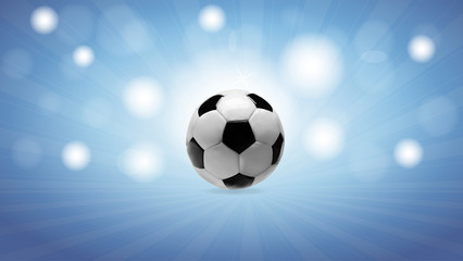 Blue background with soccer ball-vector illustration