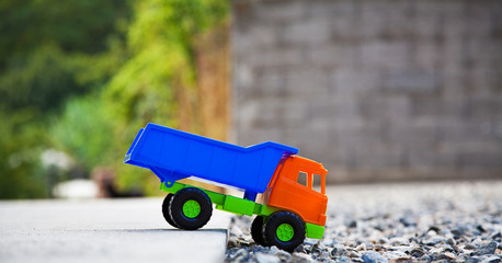 Color toy truck.