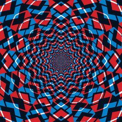 Fototapeten Illusion Abstract background, red and blue.