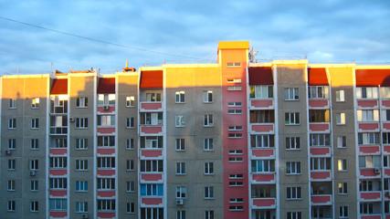 The multi-storey modern house