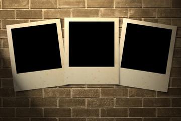 Blank photos frames
