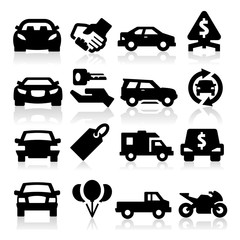 Auto business icons
