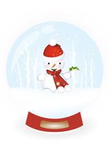 Snow globe with snowman inside