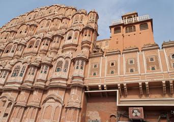 Palace of Winds, northern India. Jaipur, Rajasthan, India.