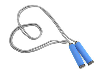 skipping rope isolated on white.
