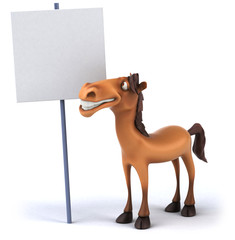 Papier Peint - Fun horse