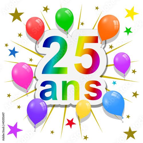 animation anniversaire 25 ans