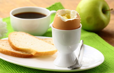 healthy breakfast with eggs and toast