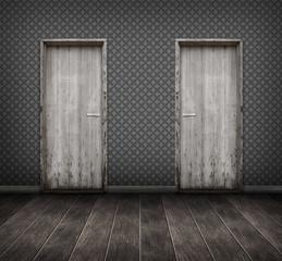 interior : empty room with doors