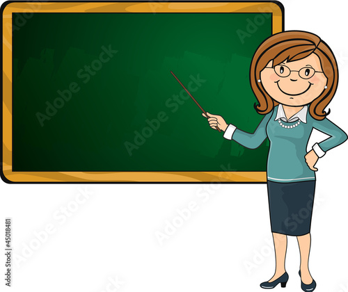 Quot Teacher And Blackboard Quot Stock Image And Royalty Free